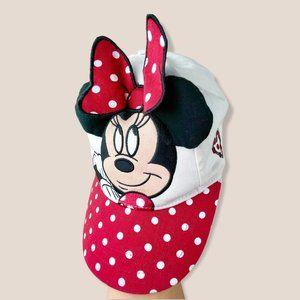 Disney Minnie Mouse 3D Hat Kids Red Polka Dot